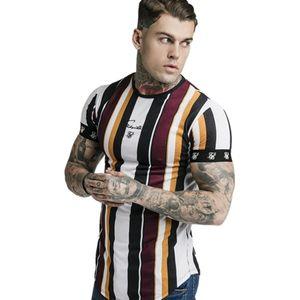 2019 nuovo Mens Sporting Summer T-Shirt da corsa Fitness Bodybuilding Camicie maniche corta da uomo cotone sottile Tees Palestre Abbigliamento Y200104