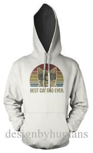 Best Cat Dad Ever Father 039 s Day Kitty Adult Hoodie