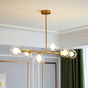 Glass ball modern led Chandeliers Lustre Ceiling Suspension for Bedroom Living avize Room Suspended Lamp chandelier