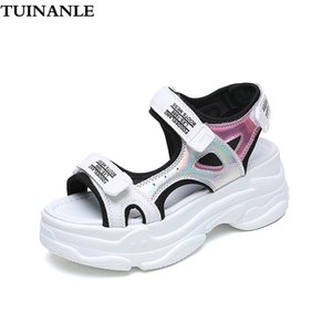 TUINANLE Sandals Women 2020 New Sexy Open-toed Sandals Wedge Outdoor Cool Platform Shoes Ladies Beach Summer Sandalia Feminina T200605
