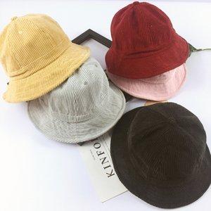 Solid Children Sun Cap Fall Autumn Cotton Girl and Boys Beach Bucket Hat Gorro Touca Infantil Summer Hats for Kids 2-5 Years