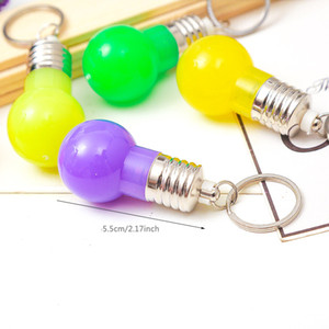 Farbwechsel LED-Licht Schlüsselanhänger Mini-Birnen-Fackel Keychain Mini LED Schlüsselanhänger-Birnen-bunte Lichter Schlüsselring-Birnen-Spielzeug-Geschenk DBC DH1093