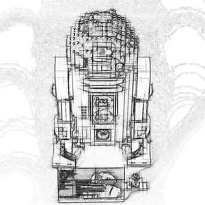 DHL 05.043 Genuine Serie Star R2 Robot Set D2 Esaurito 35009 Building Blocks giocattoli dei mattoni Compatibile con 10225