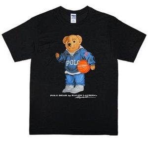 dos homens do desenhista camisetas Urso Polo Vintage Jogar Basket Reprint RareFunny Unisex T-shirt Casual Tamanho S-2XL transporte rápido T-shirt homme