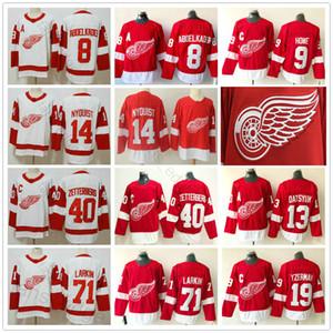 Erkekler Kadın Gençlik Detroit Red Wings Justin Abdelkader Henrik Larkin Gordie Howe Gustav Nyquist Pavel Datsyuk Steve Yzerman Buz Hokeyi Formalar