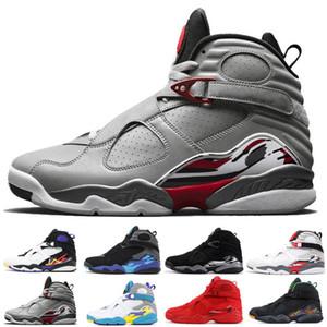 8 8s Nuovo J8 VIII retro di pallacanestro scarpe da uomo Tood qualità tre Peat Playoff traspirante Training Countdown pacchetto di atletica scarpe da tennis