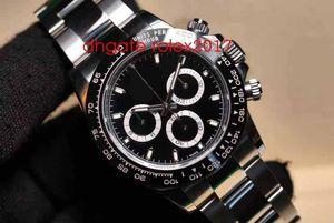 Mens BP Fabrik Neue Version Uhr Heißer Verkauf 40mm Kosmograph 116520 116500 Swiss ETA 7750 Automatische Bewegung Chronograph Männer Uhren