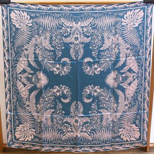 Alta calidad Wenrunruyu Phoenix oficina de rebozo de seda de la flor de satén 110cm gran pañuelo de seda cuadrado de la mano de curling bufanda femenina imprimir