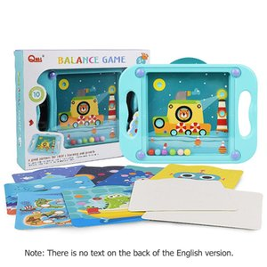Kinder Palm Balanced Ball-Konzentration in ein Loch Play Game Kinder Balanced Bead Strategie-Spiele Inafnt Gleichgewichtstraining Spielzeug