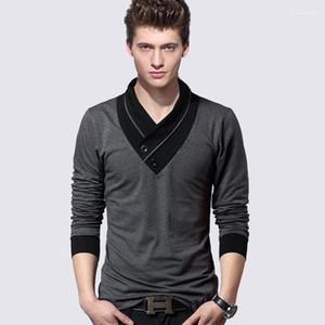 Männliche beiläufige lange Sleeved Tops Tees Fall-Herbst-Männer-T-Shirts 19SS Designer