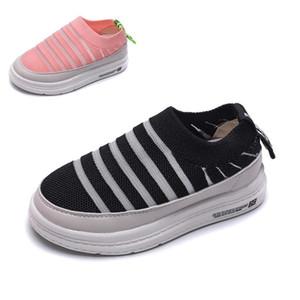 Girls Sneakers for Toddler Boy Sneakers Kids 2019 Autumn Flying Weaving Children Skate Shoes Boys Sneakers Girls White Black #47