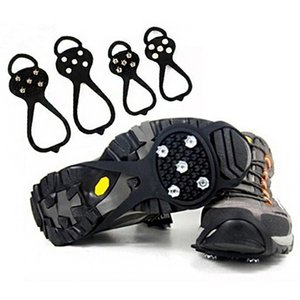 1pair 5Studs Andando Cunho Ice Gripper AntiIce neve sapatos de Spike aperto Camping Escalada Ice Crampon Ice shippng livre