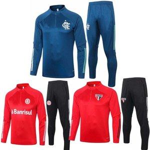 S-XXL 2020 2021 Flamengo calcio tuta Chandal Sao paulo rivestimento di calcio tuta 20 21 Camisas de futebol SC Internacional Formazione