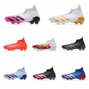 2020 Scarpe morsetti di calcio dei nuovi uomini Messi Predators Mutator 20 FG Calcio Nucleo Nero Bianco Active Red Designer Scarpe da calcio Football Shoes