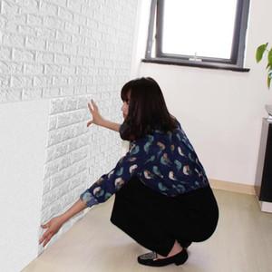 di carta impermeabile 77 * 70cm Brick autoadesivo decorazione di DIY 3D di parete per la camera dei bambini in camera 3D Brick Wall Stickers Living Room