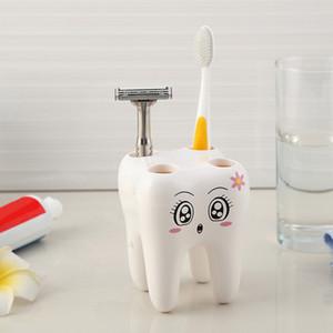 Porta spazzolino da denti Stile 4 fori Stand Spazzolino da denti Mensola Accessori per il bagno Imposta il contenitore della staffa cny1217
