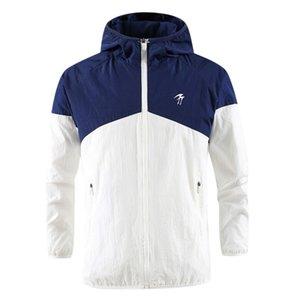 SAGACE Fashion Men's Autumn Winter Outdoor Casual Hooded Jacket Windbreaker Jacket Coat Loose stitching zipper Long sleeves warm