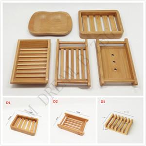 5 Estilos Soap Bamboo Natural Titular de Proteção Ambiental Soap Bamboo Natural criativa Dish Secagem Sabão Titular frete grátis