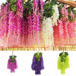 Dense Wisteria simulazione reale di tocco Wisteria Vine Bianco Blu Rosso violaceo Dense Wisteria casa della festa nuziale giardino della decorazione di festival