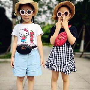 Enfants Designer Sacs Classique Bébés filles Sac à main des petits enfants Porte-monnaie INS Hot PU chaîne en métal Messenger Sac à bandoulière pour fille