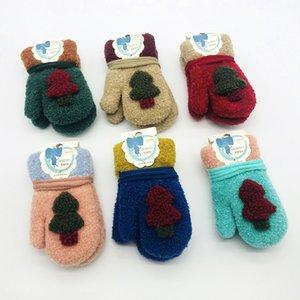 Новые детские варежки висячие шеи ёлочные перчатки осень-зима бархатные мультфильм мальчик девочка теплые перчатки варежки