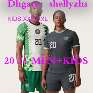 كيت الرجال الاطفال 2020 نيجيريا الرئيسية لكرة القدم بعيدا جيرسي 20 21 مايوه دي القدم قمصان نيجيريا أوكيشوكو اوكوشا AHMED MUSA ميكيل IHEANACHO كرة القدم