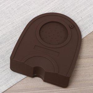 Barista Thicken Non-Slip Silicone Mat Tamper Coffee Rest Art Pen Holder Pad Latte Tamping