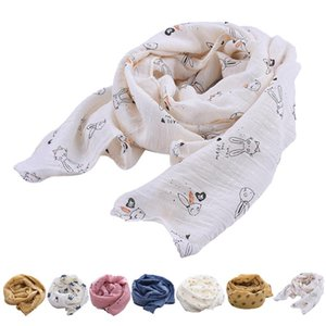 Baby Scarf Cute Crown Cherry Star Rabbit Pattern Printing Neck Scarf Cotton And Linen Scarf Accessories Four Seasons Universal