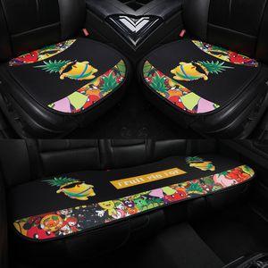 Çizgi Araba Koltuk Minderi Evrensel koruyun MAT 3pcs / set Araba koltuk minderi Fit En Otomotiv iç Kapaklar