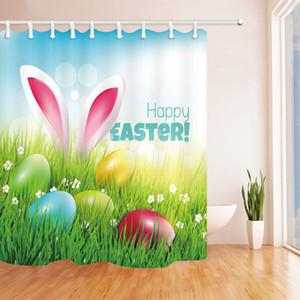 150 * 180cm di Pasqua Shower Curtain coniglio 3D Uovo stampato in poliestere impermeabile Shower Curtain Bagno cortina di Pasqua Bagno Decor KKA7680