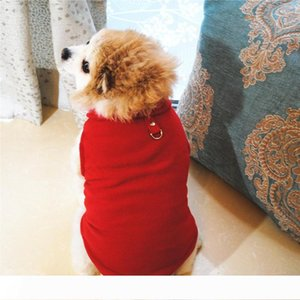 Plaid Dog Clothes Fleece Small Dog Vest with Buckle Warm Puppy Jackets Dogs Apparel Pet Supplies 15 Designs Optional YW2011-1Q