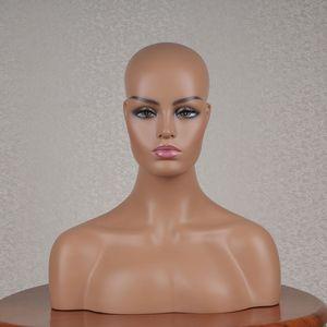 Venta caliente de 3 modelos disponibles realista maniquí de fibra de vidrio Cabeza Busto Venta En peluca joyería y sombrero de visualización