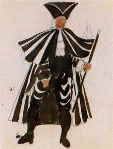 Pablo Picasso óleo clássica Pintura Figurinos Para Pintura Ballet Tricorne Mordern óleo 100% Handmade por Experiente Painter Picasso162