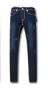 New True Elastic jeans Mens Revival Jeans Crystal Studs Denim Pants Designer Trousers Men's size 30-40