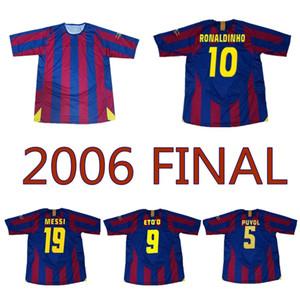 2006 home retrò maglia di calcio 2005 V. Bommel Giuly maglia da calcio d'epoca classiche UCL finale Ronaldinho LARSSON Xavi Iniesta Eto'o Deco MESSI