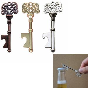 Em forma de chave abridor de garrafas em forma de chave de liga de zinco de viagem ao ar livre ferramentas de bar partido piquenique abridor de chave garrafa zza294
