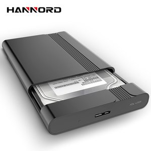 Hannord 휴대용 하드 디스크 케이스 빠른 데이터 전송 HDD 둘러싸 하드 디스크 케이스 지원 2TB를 들어 노트북