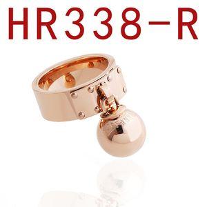 2019 anillo bola de acero inoxidable de la marca de joyería de las mujeres de lujo de diseño anillos de los hombres de las mujeres y anillos de compromiso anillos de la promesa