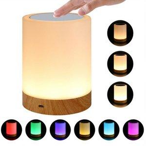 Rechargeble Led Toque Night Light Innovative Enfermagem Pouco Nightlight Tabela de cabeceira Lamp 6 cores de luz ajustável Lâmpada Noite
