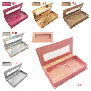 Brillantes de latigazo de la caja 3D Mink Pestañas personalizada cajas de embalaje vacío Brillantes de los latigazos de los casos sin pestaña del DBC BH3218