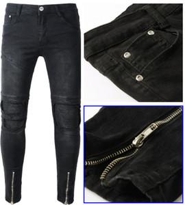 2017 de primavera y verano Jeans Europa Y América Ropa Masculina Jeans lavar prendas deshilachadas desgastada