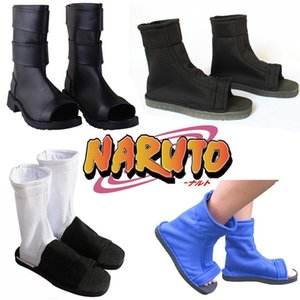New Japanese Anime NARUTO Akatsuki Hatake Kakashi Uzumaki Naruto Cosplay Shoes Halloween Carnaval Cosplay Shoes Size 36-44