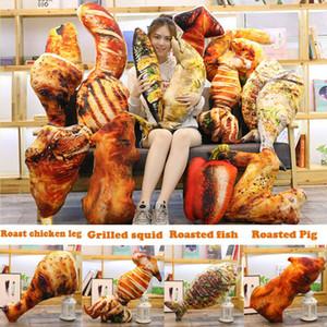 Lustige Simulation Lebensmittel-Kissen weich Kuschelkissen Kinder Kinder Geburtstag Geschenke Plüsch-Spielzeug-Puppe Roast Pig Bein Fisch Dekor Kissen