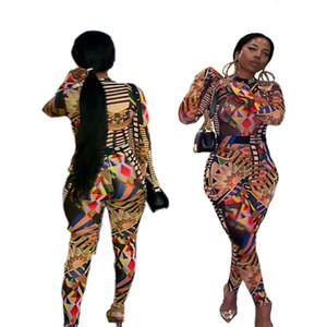 Bayan tasarımcı tulum tek Parça Set kıyafetler Eşofman uzun kollu Pantolon Sonbahar moda yüksek kaliteli çok sıcak klw2411 tayt