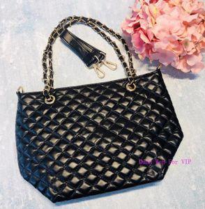 29X24X12CM ~ Известные моды quiltedCC сумка с ручкой Luxury Stroge сумка смарт C женщин тотализатор Cosmetic Makeup Организаторы VIP