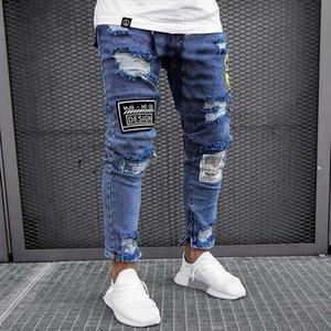 Jeans Homme Maigre Designer Hombres Jeans Biker Street Hiphop Style Adolescent Skateboard