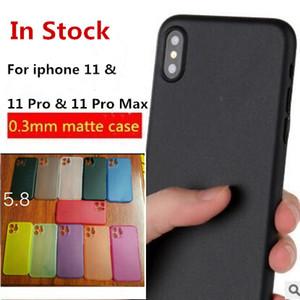 0.3 mm ultra delgado delgado mate esmerilado PP caja del teléfono transparente funda flexible para iphone 11 Pro Max X XS XR 8 7 6 6S plus en stock