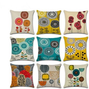 Новая абстрактная симпатичная цветочная серия тема (без сердечника подушки) обнимите наволочку наволочка для подушки домашний диван офис Поясничная наволочка 45x45cm