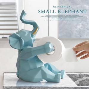 Tier-Statue Fertigkeit-Dekorationen des Rollenpapier-Halter-Wohnzimmer Office Restaurant hängendes Papier Elefanten / deer Figurine Home Decor