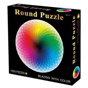 14 Photo de types mini-énigmes papier arc-en-1000 pièces Assemblage jouets puzzles pour adultes Jeux pour enfants Jouets éducatifs Y200421